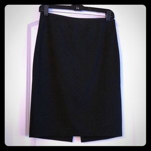 Staple black pencil skirt